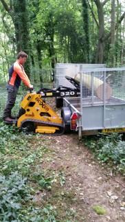 Boxxer skid steer loading timber