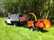 Land rover and chipper offroad access