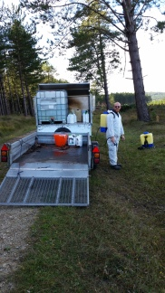 Chemical weeding for the Forestry Commission 2015