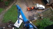 MEWP tree work over a listed building in Poole