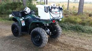 ATV Spraying rig setup