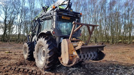 Mulcher used for efficient vegetation clearance