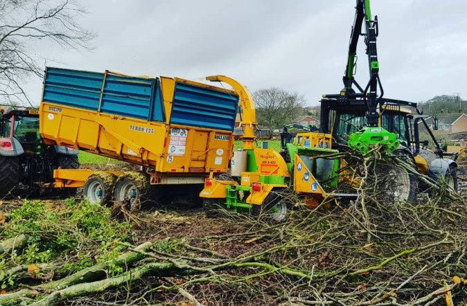 Biomass chipping on site clearance project