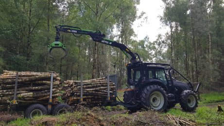 Timber extraction with botex roof crane