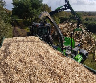 G30 Wood chip ready to go to a biomass boiler