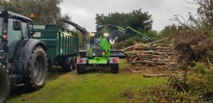 Wood chipping on site
