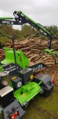 Low grade timber being chipped with our heizohack